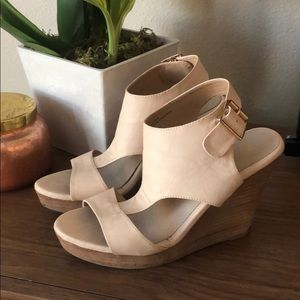 Restricted nude wedge heels size 8